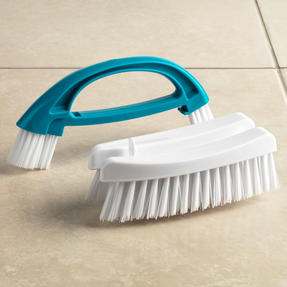 Beldray 2 Piece Cleaning Set with Duster and Scrubbing Brush, Turquoise Thumbnail 6