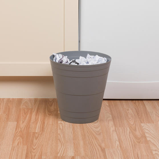 Beldray Office Bin Waste Paper Basket, Grey Thumbnail 3