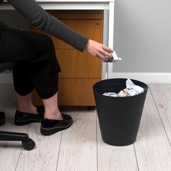 Beldray Office Bin Waste Paper Basket, Black Thumbnail 2