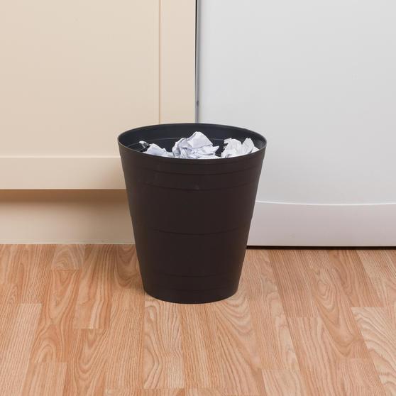 Beldray Office Bin Waste Paper Basket, Black Thumbnail 3