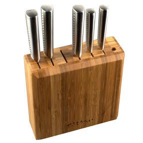 Sekitobei P500869 Kitchen Knife Block, Bamboo Thumbnail 1