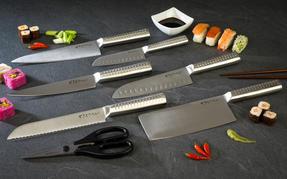 Sekitobei P500811 18 cm Japanese Santoku Knife, Stainless Steel, 10 Year Guarantee Thumbnail 4