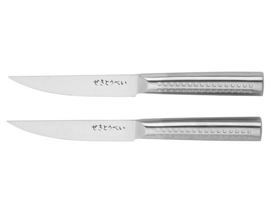 Sekitobei P500814 11 cm Japanese Steak Knives, Stainless Steel, 10 Year Guarantee, Set of 2