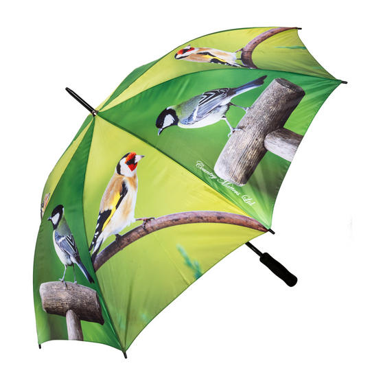 Country Matters CMUMB0038 Garden Birds Large Windproof Automatic Golf Umbrella