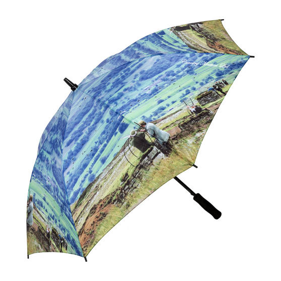 Country Matters CMUMB0106 Grouse at Bolton Castle Large Windproof Automatic Golf Umbrella