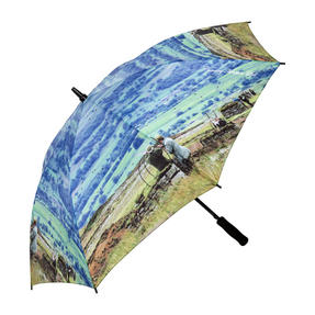 Country Matters CMUMB0106 Grouse at Bolton Castle Large Windproof Automatic Golf Umbrella Thumbnail 1