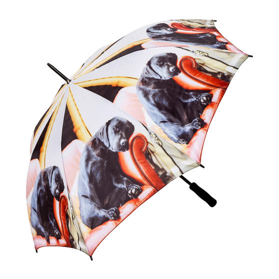 Country Matters CMUMB0044 Sleeping Lab Labrador Large Windproof Automatic Golf Umbrella