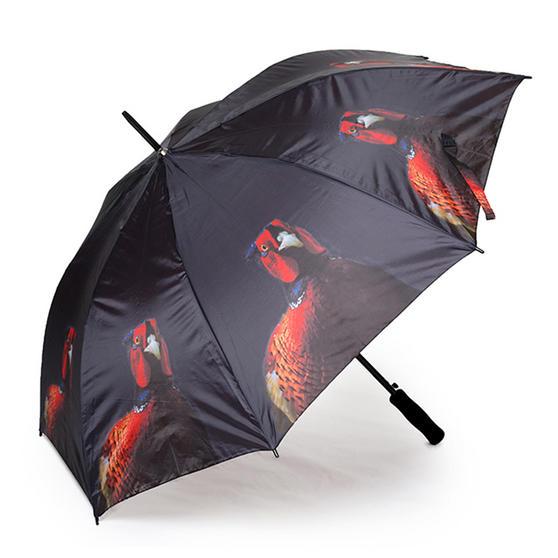Country Matters CMUMB0117 Pheasant Large Windproof Automatic Golf Umbrella