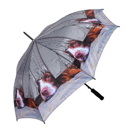 Country Matters CMUMB0045 I Spy Spaniel Large Windproof Automatic Golf Umbrella