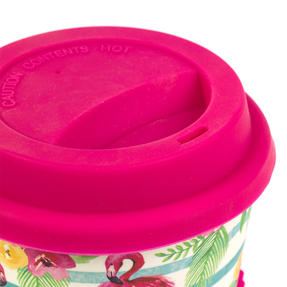 Cambridge CM05775 Flamingo Floral Bamboo Eco Travel Mug Thumbnail 4