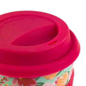 Cambridge CM05897 Reusable Large Flori Reusable Coffee Cup Travel Mug Thumbnail 4