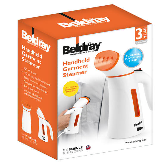 Beldray Handheld Garment Steamer, 100 ml, 600 W Thumbnail 6