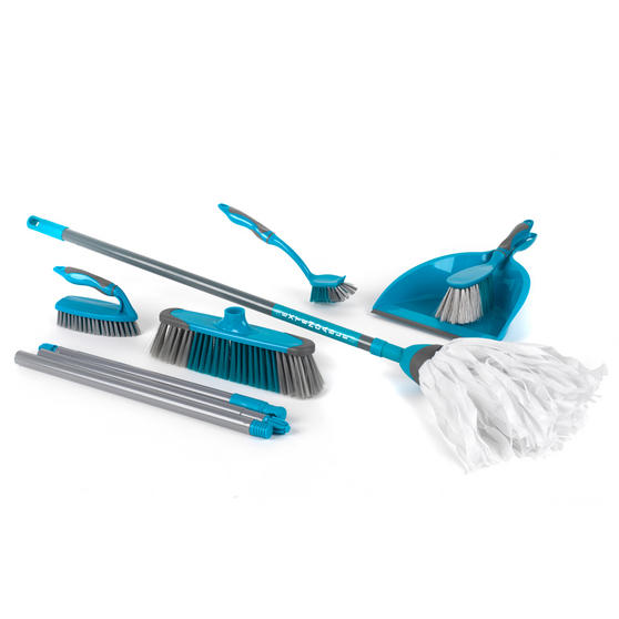 Beldray Cleaning Set with Extendable Cloth Mop and Mop Refill