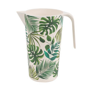 Cambridge CM05919 Large Reusable Water Juice Jug, Pitcher, Carafe, 1.5 L, Polynesia Print | Dishwasher Safe | BPA Free | Alternative to Single Use Plastics