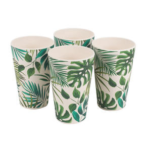 Cambridge CM05920 Polynesia Bamboo Water Juice Reusable Cups, Set of 4 Thumbnail 2