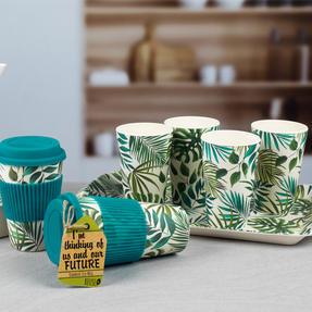 Cambridge CM05920 Polynesia Bamboo Water Juice Reusable Cups, Set of 4 Thumbnail 4