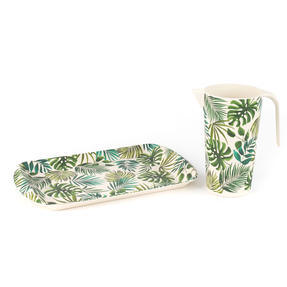 Cambridge CM05922 Polynesia Large Reusable Tray |Perfect for Serving Drinks at Parties Thumbnail 5