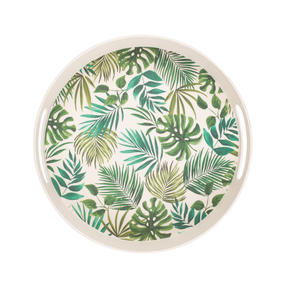 Cambridge CM05925 Polynesia Round Reusable Tray with Handles | Perfect for Serving Drinks at Parties  Thumbnail 2