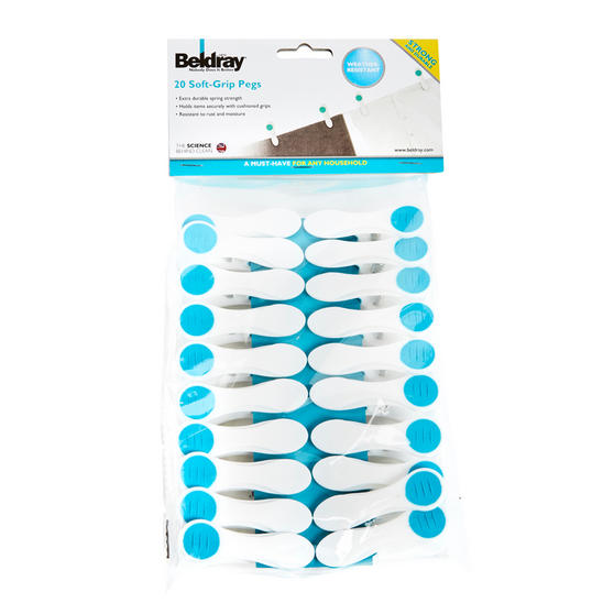 Beldray Soft Grip Clothes Pegs, Pack of 20 Thumbnail 3