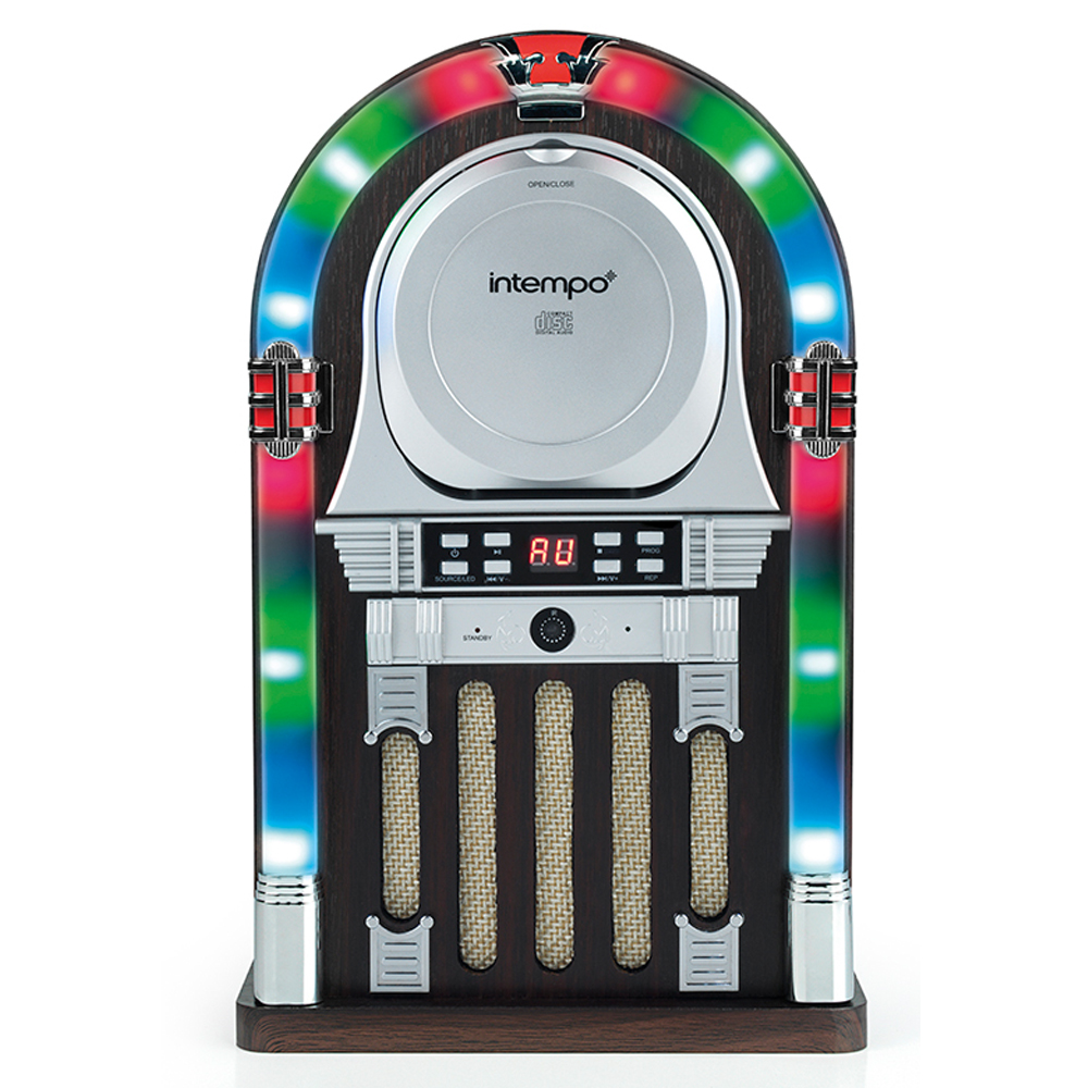 intempo remote control bluetooth mini jukebox with cd. Black Bedroom Furniture Sets. Home Design Ideas
