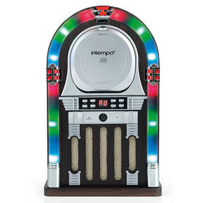 Intempo Remote Control Bluetooth Mini Jukebox with CD Player, 4 W