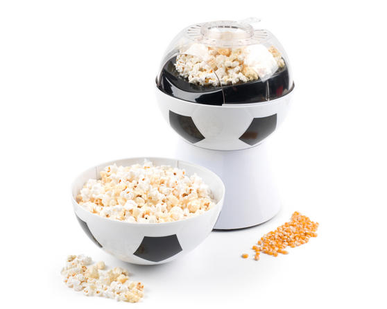 Giles and Posner Football Popcorn Maker with Integrated Football Serving Bowl, 1200 W