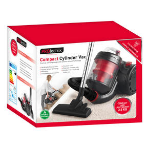 Prolectrix EF0263WK Compact Cylinder Vac Vacuum Cleaner, 2 Litre, 700 W Thumbnail 2