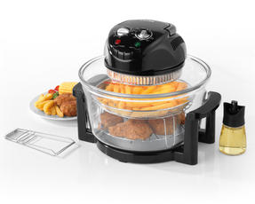 Salter Low Fat Fryer Triple Power Halogen Convection Infrared Cooker, 12 Litre, 1400 W, Black Thumbnail 1