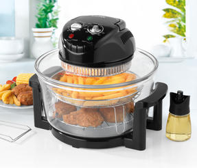 Salter Low Fat Fryer Triple Power Halogen Convection Infrared Cooker, 12 Litre, 1400 W, Black Thumbnail 2