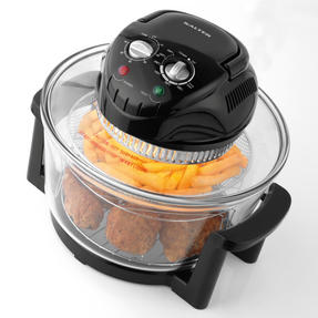 Salter Low Fat Fryer Triple Power Halogen Convection Infrared Cooker, 12 Litre, 1400 W, Black Thumbnail 3