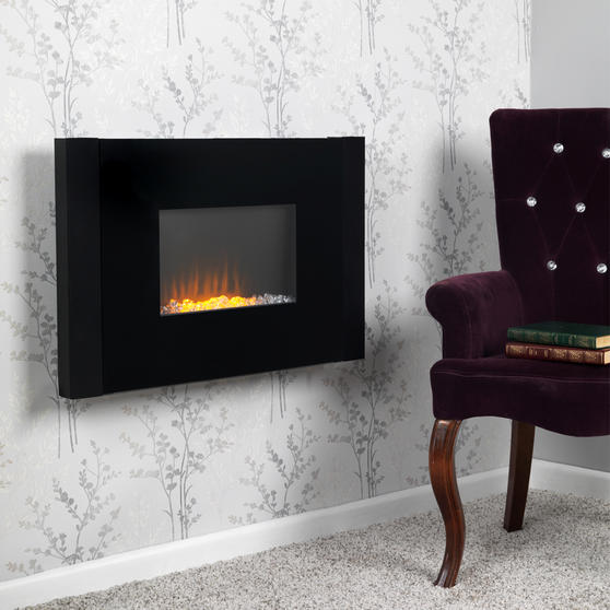Beldray Atlanta Colour Changing Wall Fire with Bluetooth Audio Speakers Thumbnail 2