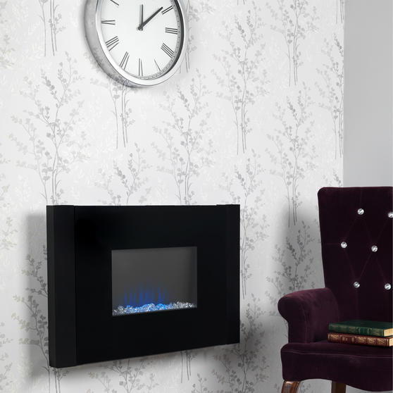 Beldray Atlanta Colour Changing Wall Fire with Bluetooth Audio Speakers Thumbnail 3