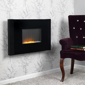 Beldray EH2209AR2NDS Atlanta Colour Changing Wall Fire with Bluetooth Audio Speakers Thumbnail 2