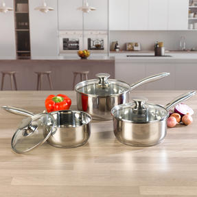 Russell Hobbs BW06571 Classic Collection 3 Piece Saucepan Set, 16/18/20 cm Thumbnail 3