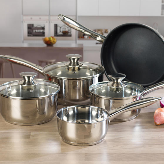 Russell Hobbs BW06572 Classic Collection 5 Piece Pan Set, 14/16/18/20/24 cm
