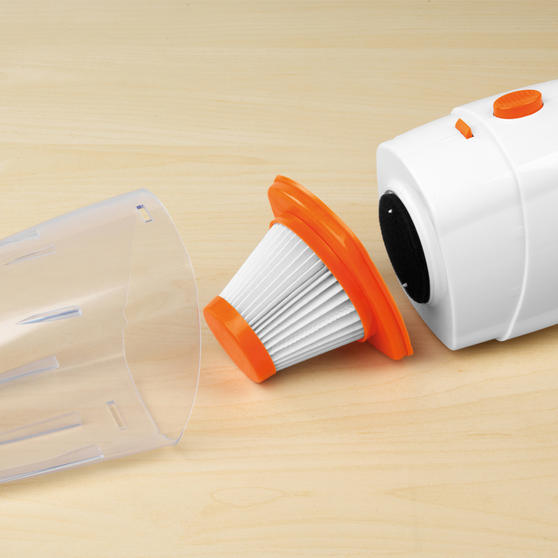 Beldray 2 in 1 Multifunctional Vacuum Cleaner, 1 Litre, 600 W, White and Orange Thumbnail 8
