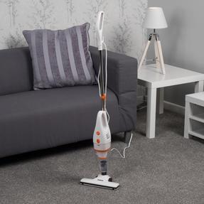 Beldray BEL0770 2 in 1 Multifunctional Vacuum Cleaner, 1 Litre, 600 W, White and Orange Thumbnail 7