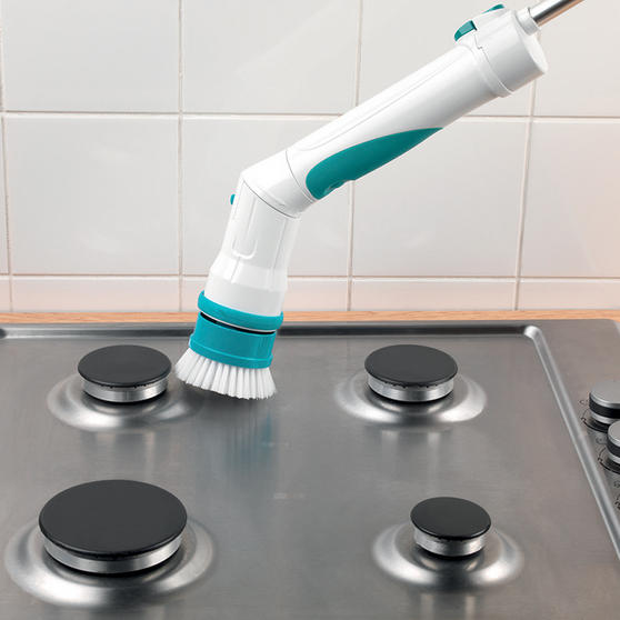 Beldray Extendable Cordless Scrubber Pro with Four Interchangeable Heads, 117 cm Thumbnail 3