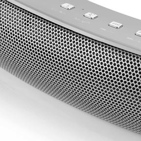 Intempo Curved Bluetooth Metallic Speaker, Silver Thumbnail 2