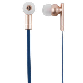 Intempo EE1738RGLDBLUSTK Metallic Look Bluetooth Earphones, Rose Gold/Blue