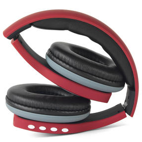 Intempo Melody Folding Bluetooth Headphones, Red Thumbnail 5
