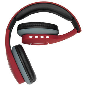 Intempo Melody Folding Bluetooth Headphones, Red Thumbnail 4