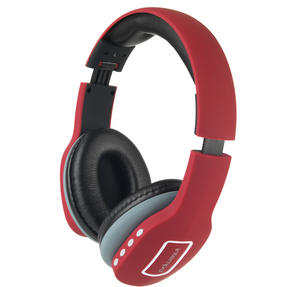 Intempo Melody Folding Bluetooth Headphones, Red Thumbnail 2