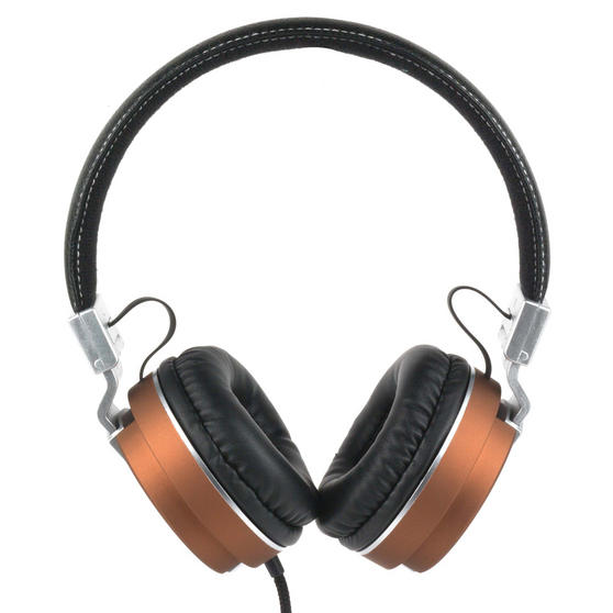 Intempo EE3072BRNSTK Matte Leather-Look Headphones, Brown