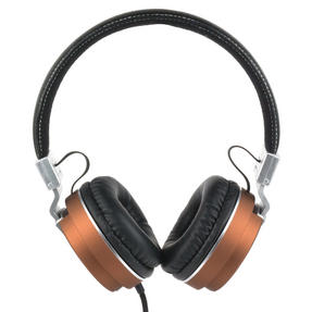 Intempo EE3072BRNSTK Matte Leather-Look Headphones, Brown Thumbnail 1
