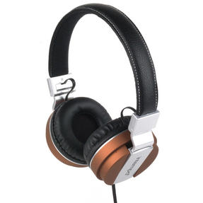 Intempo EE3072BRNSTK Matte Leather-Look Headphones, Brown Thumbnail 2