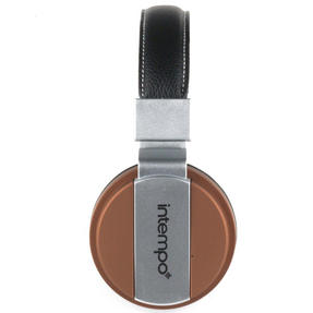 Intempo EE3072BRNSTK Matte Leather-Look Headphones, Brown Thumbnail 3