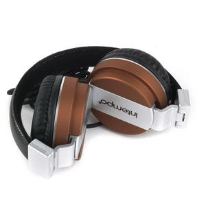 Intempo EE3072BRNSTK Matte Leather-Look Headphones, Brown Thumbnail 4