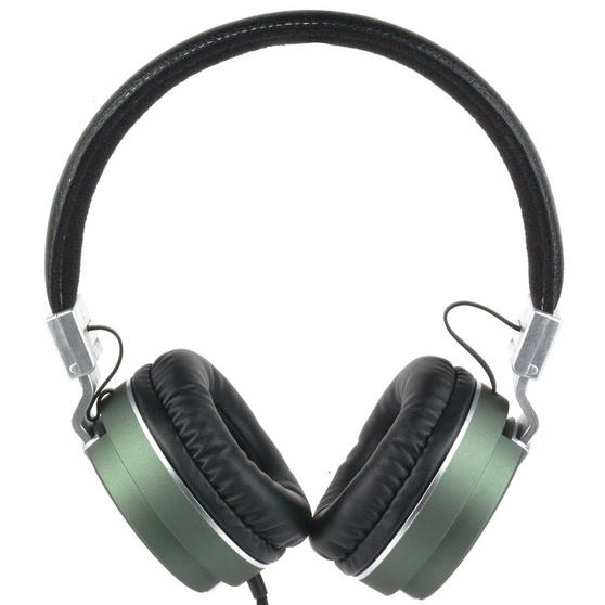 Intempo Matte Leather-Look Headphones, Green