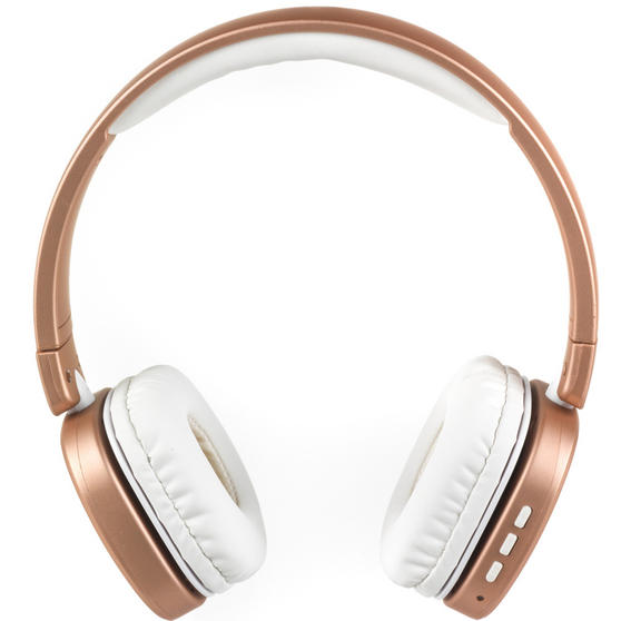 Intempo Metallic Wireless WDS28 Bluetooth Stereo Headphones, Rose Gold